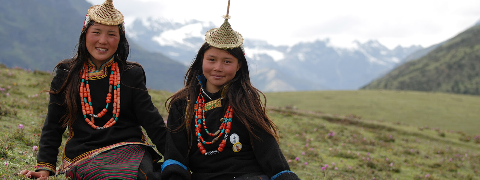 Girls from Laya Bhutan