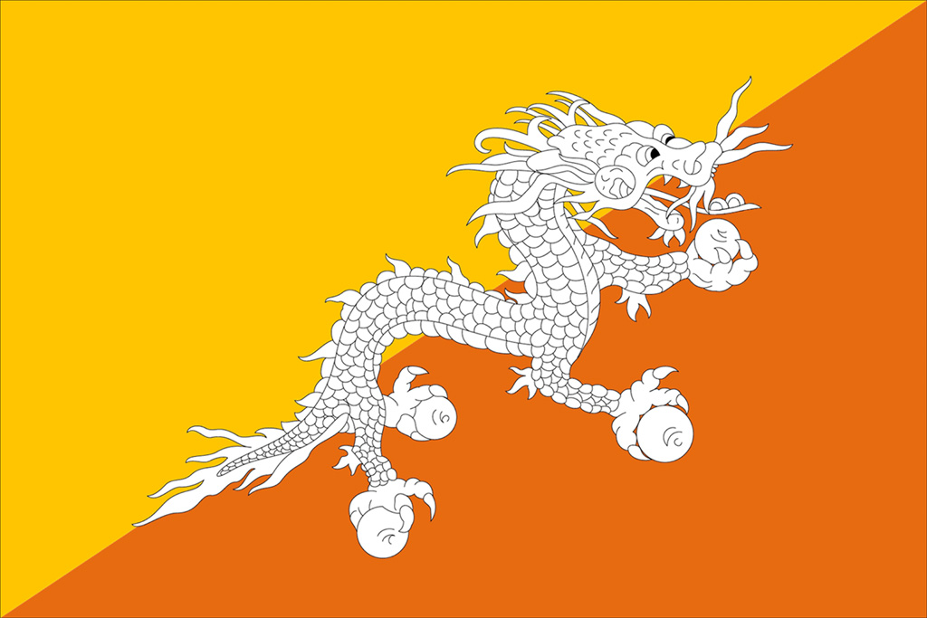National Symbols Of Bhutan Flag Emblem Animal Bird Flower Tree
