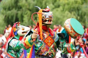 Mask Dancers during the Tsechu Festival