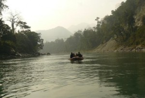 Boating in Manas river