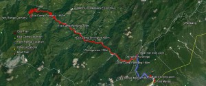 Map of Gomphu-Manas Eco Trail