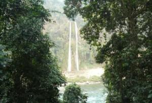 Twin waterfall near Changazam