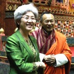 Bhutanese PM with Chinese Vice Foreign Minister