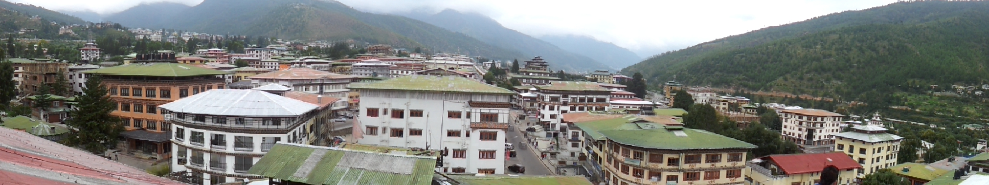 Northern street view of Thimphu