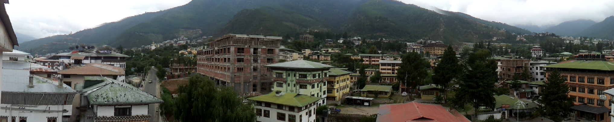 Southern street view of Thimphu