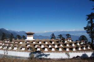 Stupas at Dochula Pass