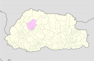 Punakha Location Map