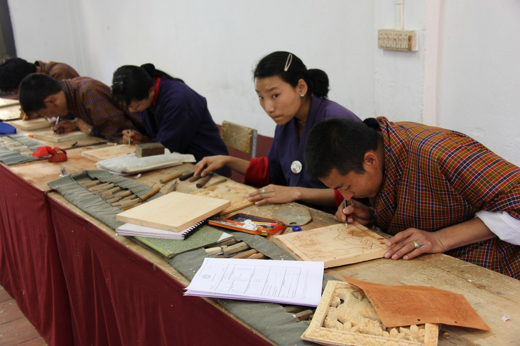 Students at the Zorig Chusum