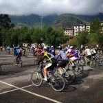 The annual Thimphu-Paro-Thimphu bike race taking off from Changlimithang