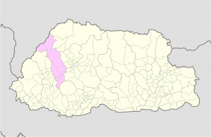 Thimphu Location Map
