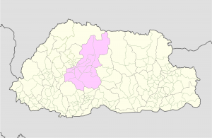 Wangdue Phodrang Location Map