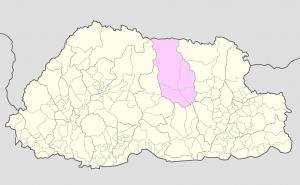 Bumthang on Bhutan Map