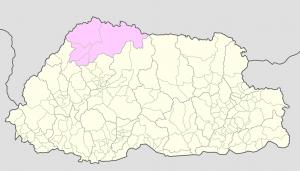 Gasa on Bhutan Map