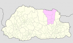 Lhuntse on Bhutan Map