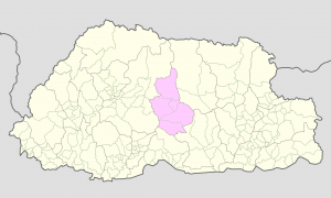 Trongsa on Bhutan Map