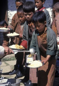 Bhutanese Childrens benefited from WFP
