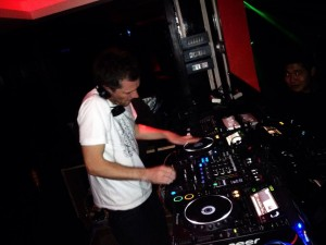 DJ Hendicott playing in Vivacity, Thimphu