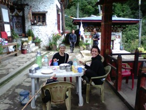 Angie & Jasmine on Druk Path Trek 02
