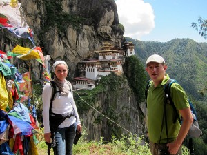 Grecu couples from Romania in Bhutan