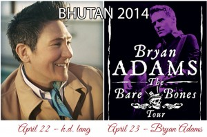 Bryan Adams and KD Lang Bhutan Concert