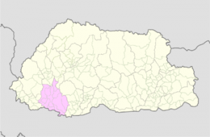 Chukha on Bhutan map