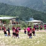 School Children in the remote village of Merak & Sakteng