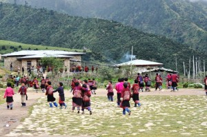School Children in the remote village of Merak & Sakteng