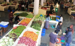The Centenary Farmer's Market in Thimphu