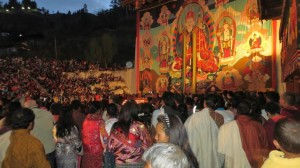 Thongdrol at the Paro Tsechu Festival
