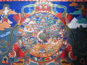 Wall painting of the Wheel of Life