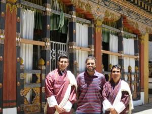 Mr. Al Mubarak & Mr. Al Qubaisi with Guide Sonam