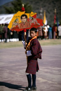 A student during the National Day celebrations