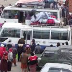 A scene at the Thimphu Bus Terminal
