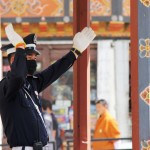 A traffic policeman in Thimphu