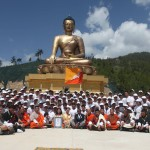 HM Ashi Dorji Wangmo Wangchuck with the team of volunteers