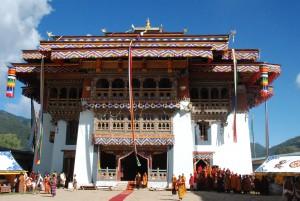 The Gangteng Monastery or Gangtey Gonpa Monastery