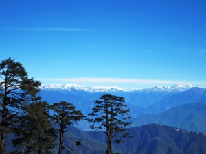 A view of the Bhutanese Himalaya from Dochula