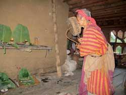A shaman ritual in a Monpa village
