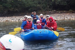 Rafting along the Phochu River in Punakha