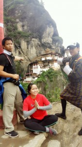 Regin Lorenzo & Maria Viudez at the Tiger's Nest Monastery