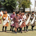 A group of Bhutanese boys in Gho