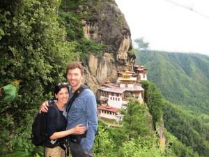 Tereza & Michal Tutko at the Tiger's Nest Monastery