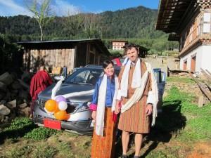 Tereza & Michal Tutko in traditional Bhutanese attires.