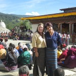 Sheila Sheehan & Laura Duenas at the Festival in Bumthang