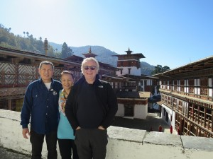 Mrs. Didi & friends at the Trongsa Dzong