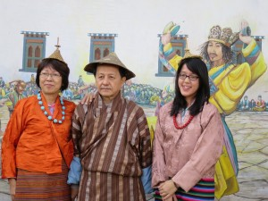 Mr. Hong Hu. Ong & Family in traditional Bhutanese attires
