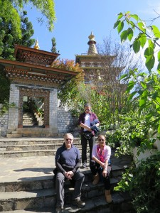 Mrs. Didi & friends at the Khamsum Yueling Temple, Punakha