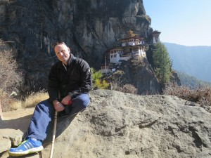 Richard Watson at the Tiger's Nest Monastery
