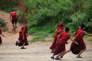 For novice monks in Bhutanese monasteries, football is by far the most popular sport.