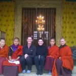 Sandy & Jemima Fonseka at the Zilukha Nunnery in Thimphu
